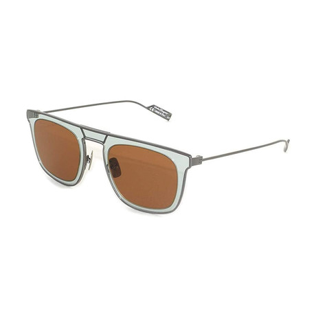 Salvatore Ferragamo // Men's SF187S-299 Sunglasses // Brown + Green
