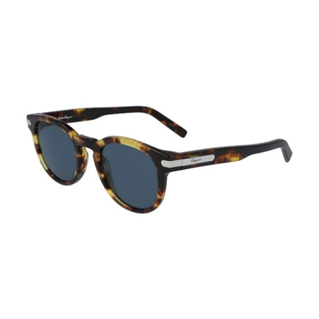 Salvatore Ferragamo // Men's SF935S-219 Sunglasses // Dark Tortoise + Blue