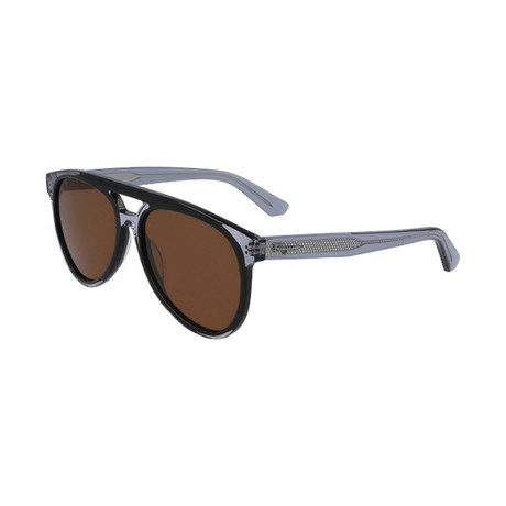 Salvatore Ferragamo // Men's SF945S-013 Sunglasses // Black Gray + Brown
