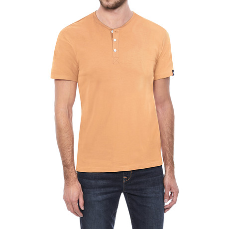 Super Soft Stretch Henley // Cantaloupe (S)