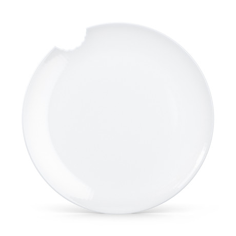 Dining Plate With Bite Detail // Set Of 2