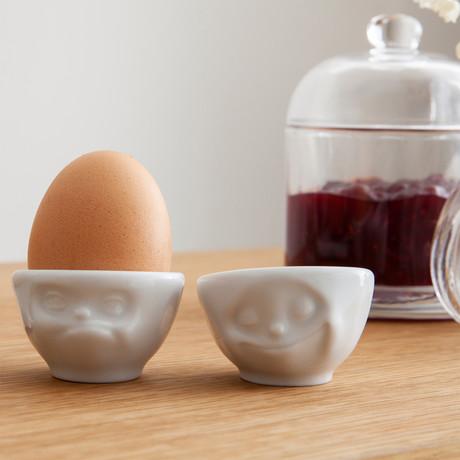 Egg Cup Set // Happy & Hmpff