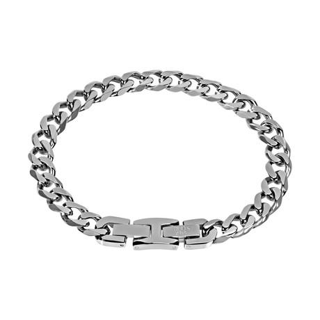 Cuban Link Bracelet // 8mm // Steel