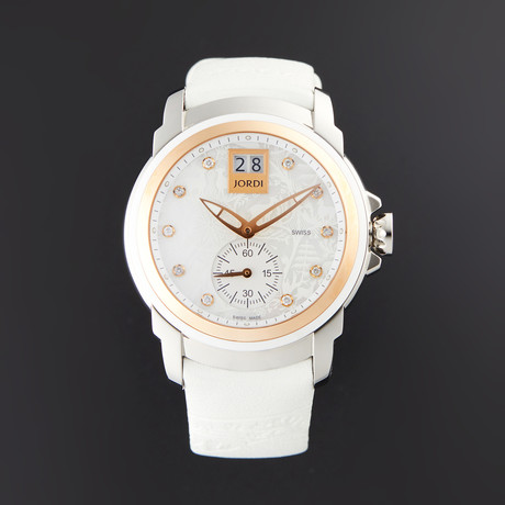 Michel Jordi Ladies Icon White Glamour Quartz // SIL.401.16.005.03 // Store Display