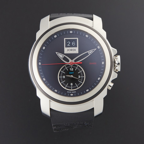 Michel Jordi Mega Icon Pebble Stone GMT Quartz // SIM.300.10.002.01 // Store Display