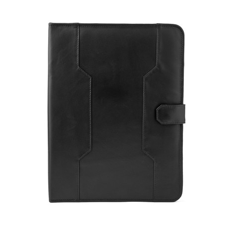 Leather Business Portfolio // Black
