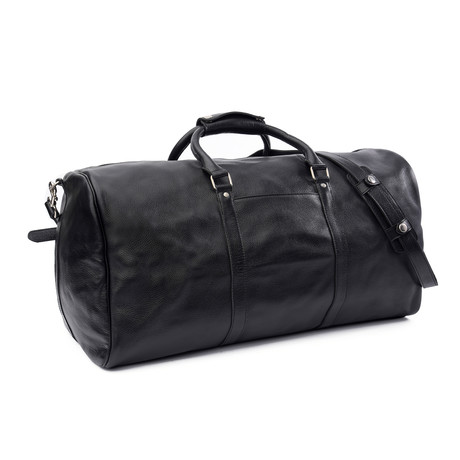 "Willson Leather Duffle 23.5"" // Black"