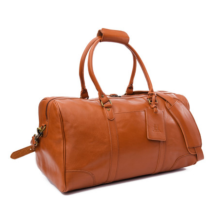 "Tourist Leather Duffel Bag 19.5"" // Tan"