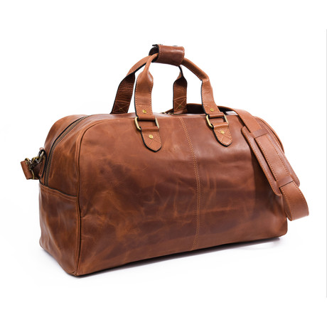 "Caesar Leather Duffle 20"" // Distressed Brown"