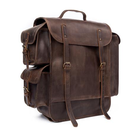 James Backpack // Dark Brown