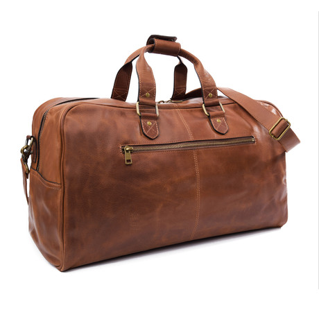 "Caesar Leather Duffle 22"" // Distressed Brown"
