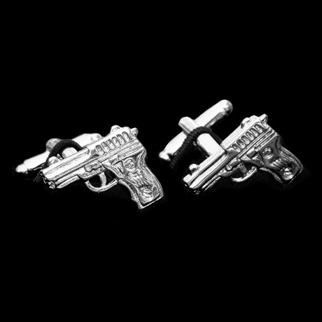 Exclusive Cufflinks + Gift Box // Silver Firearms