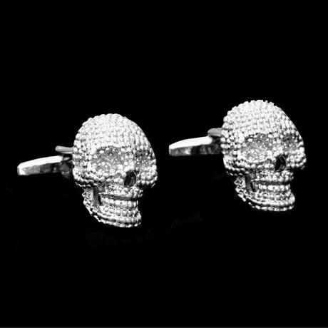 Exclusive Cufflinks + Gift Box // Silver Skulls