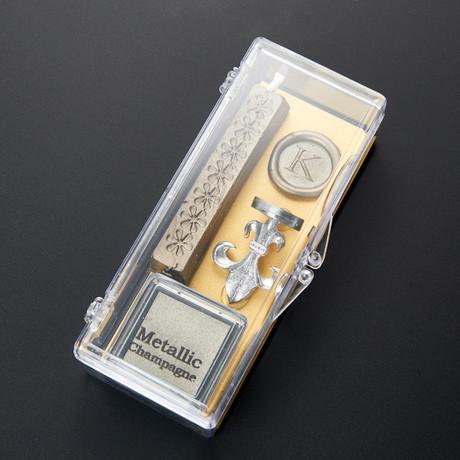 Clear & Classy Alphabet Wax Seal Set // K