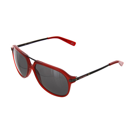 Unisex Aviator 849P Sunglasses // Red