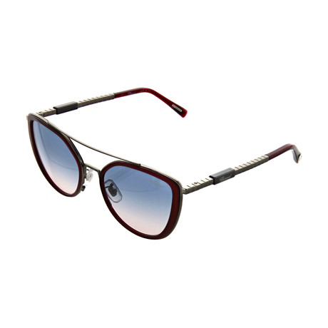 Women's Cat Eye 0509 Sunglasses // Burgundy + Gunmetal
