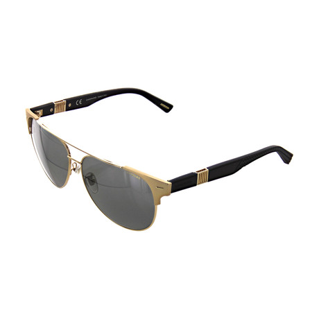 Men's Cat Eye 349P Sunglasses // Shiny Gold + Matte Black