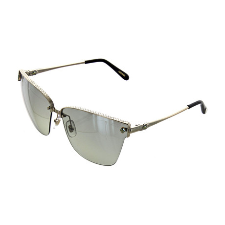 Women's Cat Eye 594G Sunglasses // Silver + Gold
