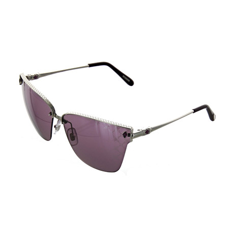 Women's Cat Eye 579L Sunglasses // Silver