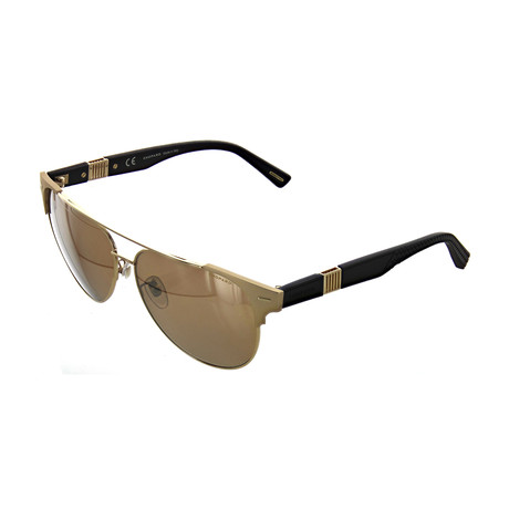 Men's Cat Eye 349Z Sunglasses // Shiny Gold + Matte Black