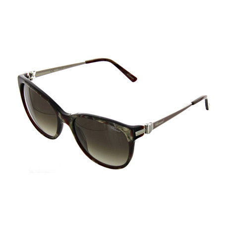 Unisex Square 0VA9 Sunglasses // Shiny Horn + Dark Red