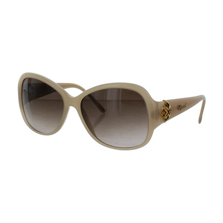 Women's Square 09XA Sunglasses // Shiny Opal + Beige