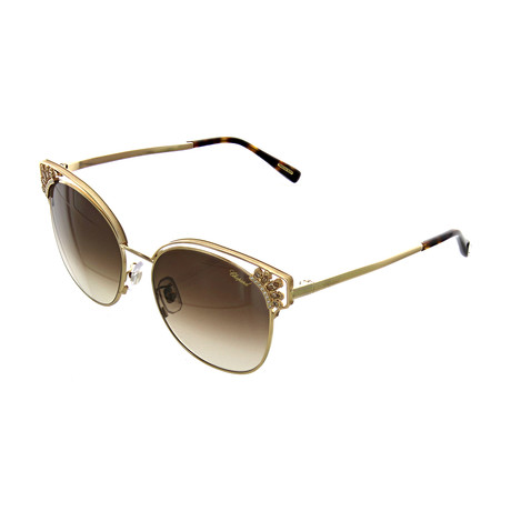 Women's Cat Eye 0349 Sunglasses // Gold Crystal