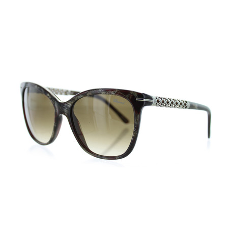 Women's Square 0VA9 Sunglasses // Shiny Horn + Dark Red