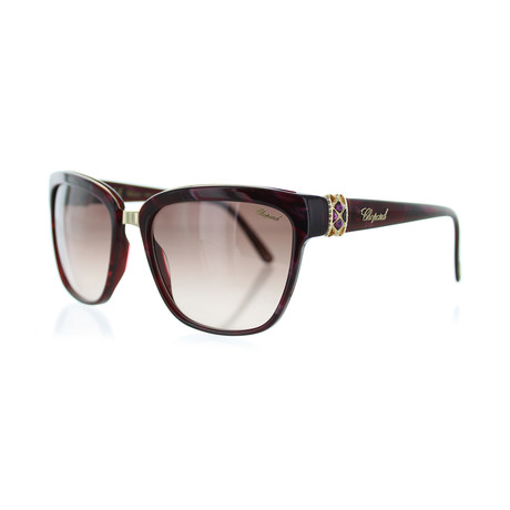 Women's Square 09ZB Sunglasses // Shiny Pearl + Burgundy