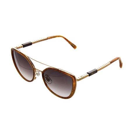 Women's Cat Eye 08FC Sunglasses // Shiny Copper Gold + Mosaic Brown