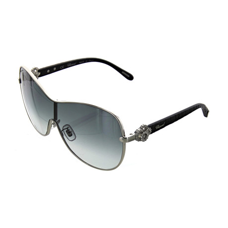 Women's Shield 0579 Sunglasses // Shiny Palladium
