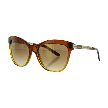 Women's Square 0748 Sunglasses // Orange Havana
