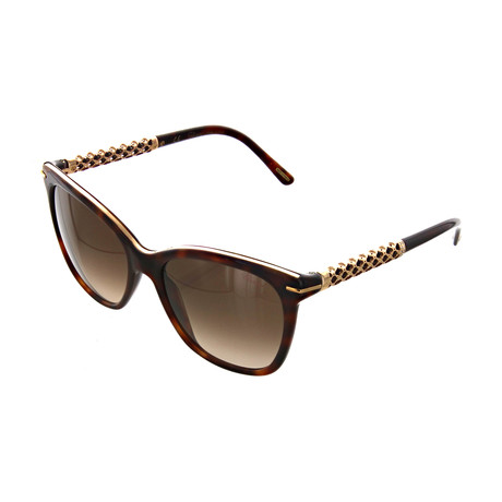 Women's Square 09XK Sunglasses // Dark Havana