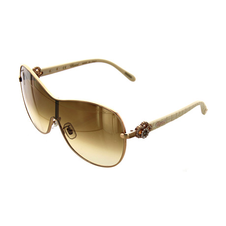 Women's Shield 8FCG Sunglasses // Shiny Copper Gold