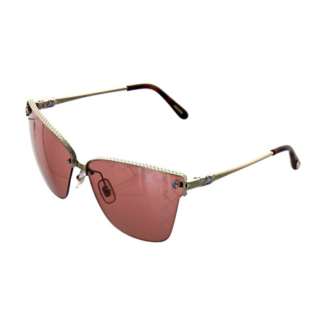 Women's Cat Eye 594L Sunglasses // Silver + Gold