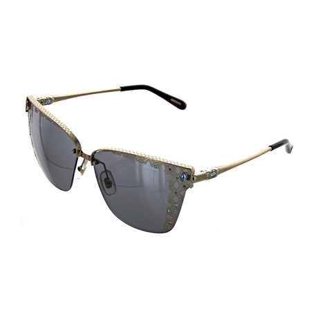 Women's Cat Eye 8FEL Sunglasses // Gold