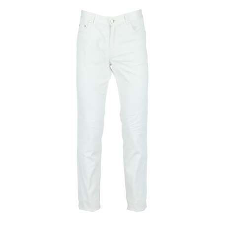 Giancarlo Five-Pocket Regular Fit Denim // White (Euro: 35)