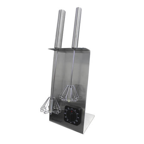 Whisk Stand + Timer Set (Silver)