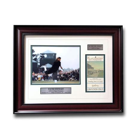 Payne Stewart // Framed 1999 U.S. Open Ticket Collage