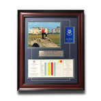 Jack Nicklaus // Framed 2005 St. Andrews Old Course Final British Open Scorecard