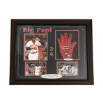 David Ortiz // Framed Red Sox Batting Glove Collage