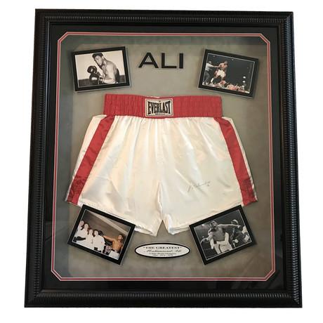Muhammad Ali // Framed + Signed Trunks Collage