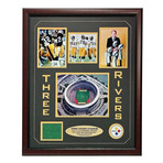 Steelers Authentic Game Used Turf // Framed Collage