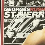Georges St. Pierre // Signed + Framed UFC Glove Collage