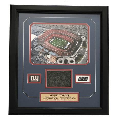 Original Giants Stadium Game Used Turf Collage