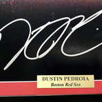 Dustin Pedroia // Signed + Framed Red Sox Photo