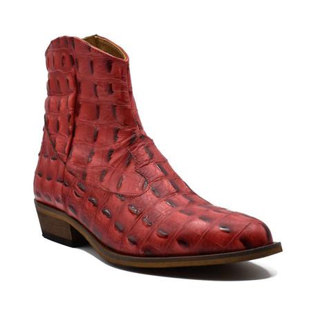 Boot // Red Baby Crocodile (Euro: 38)