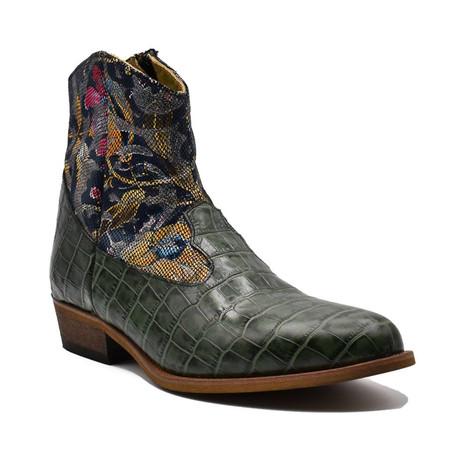 Crocodile Boot // Green (Euro: 38)
