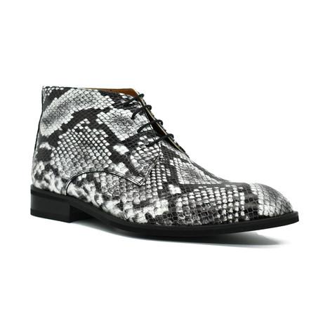 Snake Boot // Black + White (Euro: 38)