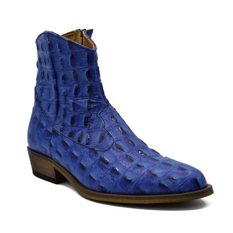 Boot // Blue Baby Crocodile (Euro: 38)